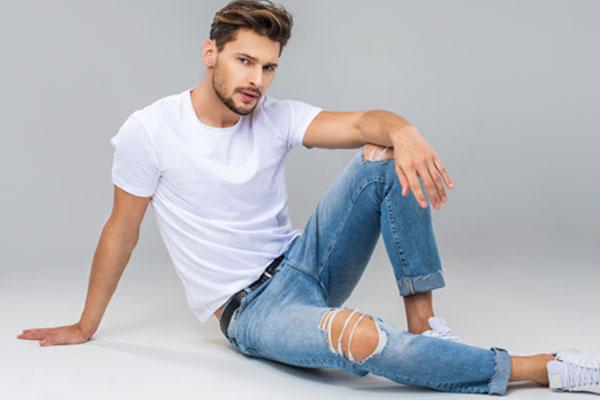 jeans homme slim déchiré